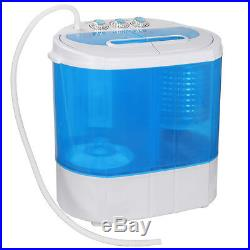 10lbs Mini Portable Compact Washing Machine Spin-Dry Laundry Washer withDrain pump