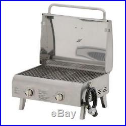 2-Burner Professional Portable Propane Gas Grill Cookware BBQ Compact Stainless