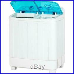 Best Choice Products Portable Mini Twin Tub Compact Washing Machine WithSpin Dry C