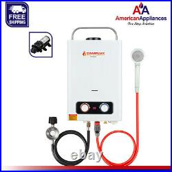 Camplux 6L 1.58 GPM Portable Propane Tankless Water Heater With 6L Water Pump