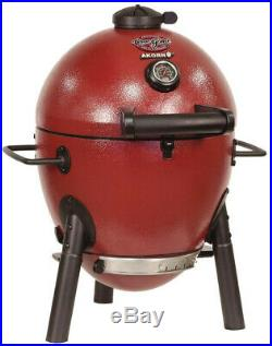 Charcoal Grill Akorn Red Compact Design Cast Iron Durable Home Backyard Barbecue
