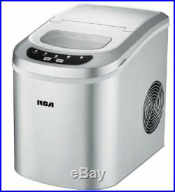 Compact Ice Maker Portable Delux Mini Nugget Soft Counter Top Cube Machine Steel