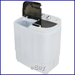 Compact Washer Dryer with Mini Washing Machine and Spin Dryer White Portable