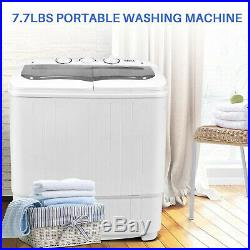 Della Mini Washing Machine Portable Compact Washer And Spin Dry Cycle With PUMP