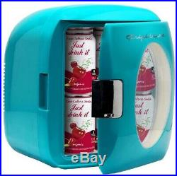 Frigidaire Beverage Cooler Electric Compact Portable 12 Can Mini Retro Turquoise