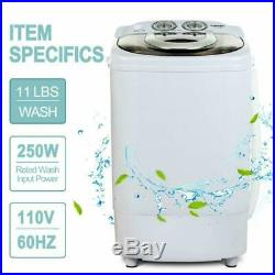 11lbs Capacity KUPPET 2020 Latest Mini Portable Washing Machine for Compact Laundry Small Semi-Automatic Compact Washer with Timer Control Single Translucent Tub