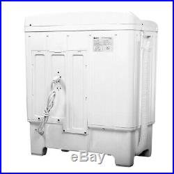 NEW Mini Portable Washing Machine Washer Compact Twin Tub 17.6lb Spin Spinner