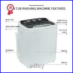 Portable 2 In 1 Laundry Washer And Dryer Compact Mini Washing Machine Load New