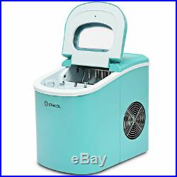 Portable Compact Electric Ice Maker Machine Mini Cube 26lb/Day Mint Green