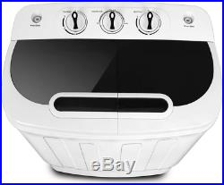 Portable Compact Mini Twin Tub Washing Machine withWash and Spin Cycle
