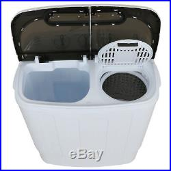 Portable Compact Washer & Dryer with Mini Washing Machine and Spin Dryer, White