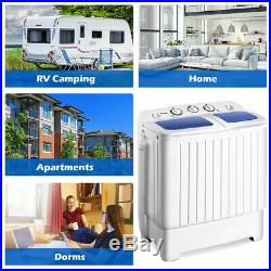 Portable Mini Washing Machine Washer Compact Twin Tub 17.6lb Spin Spinner NEW
