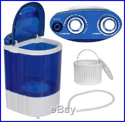 Portable Semi-Automatic Mini Wash Machine For Compact Laundry With Timer Control