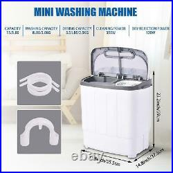 Portable Washing Machine Twin Tub Double Motor Spin Dryer Mini Compact With Hose