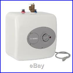 Residential Electric Water Heater Mini Tank Compact Wall Mount White 4 Gallon