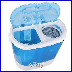 SUPER DEAL Portable Compact Mini Twin Tub Washing Machine withWash and Spin