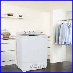 SUPER DEAL Portable Compact Mini Twin Tub Washing Machine withWash and Spin Cycle