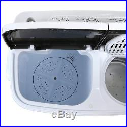SUPER DEAL Portable Compact Mini Twin Tub Washing Machine with Wash and Spin 13lbs