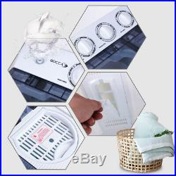 Washing Machine, Portable Mini Compact Twin Tub Washer with Spin for Apartment